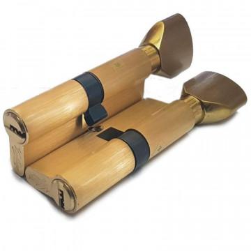 Цилиндровый механизм Vantage pc 100 sb матовое золото перфо ключ с вертушкой
