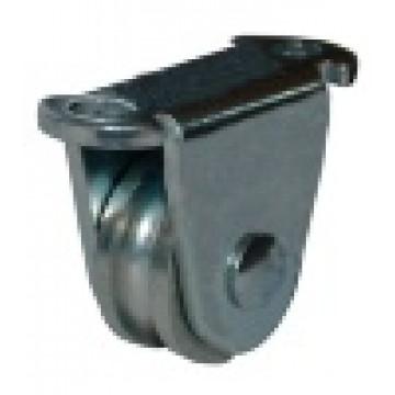 Роликовое колесо для гаражных ворот 25 мм цинк