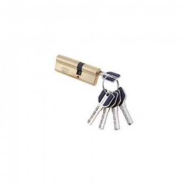 Цилиндровый механизм Vantage 100 мм  (35х65) SB матовое золото перфо ключ-ключ