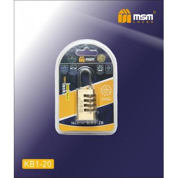 Замок навесной кодовый MSM KB1 20 мм