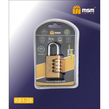 Замок навесной кодовый MSM KB1 28 мм