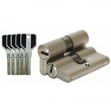 Цилиндровый механизм С45/35 перфо. ключ-ключ SN матовый никель
