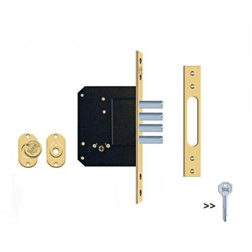 Замок врезной с крестообразным ключом KALE 189/4MF (52 мм, 5 ключей)