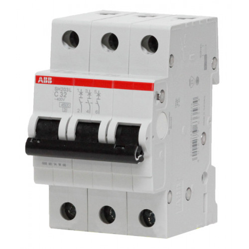 Выключатель автоматический трехполюсный SH203L C20 ABB