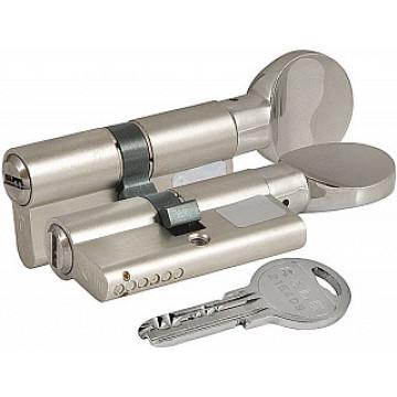 Цилиндровый механизм 164 SM/70 (30*10*30) с вертушкой никель