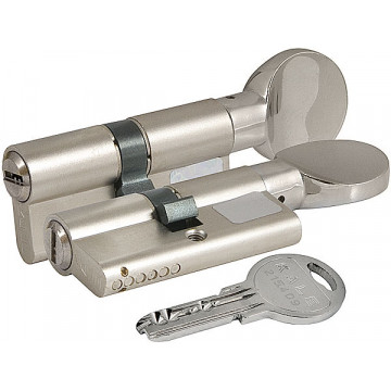 Цилиндровый механизм Kale kilit (Кале килит) с вертушкой 164 SM/80 (30+10+40) mm никель 5 кл.