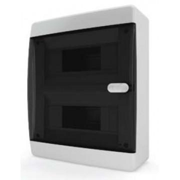 Щит навесной IP40 18 модулей прозр/черный CNK TekFor