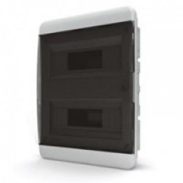 Щит встраиваемый IP40 24 модулей прозр/черный BVK TekFor