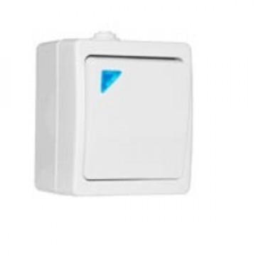 Выключатель одноклавишный с подсветкой UNIVersal Аллегро IP54 бел