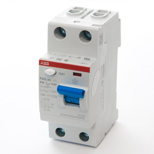 Выключатель дифференциального тока УЗО F202AC-40/0,03