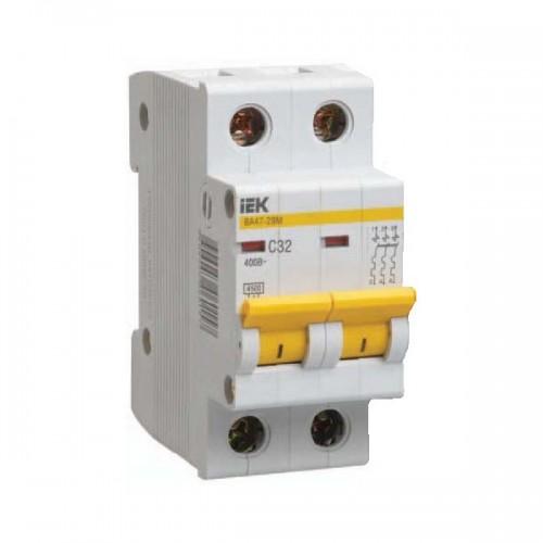 Выключатель автоматический двухполюсный IEK 2-P 32A
