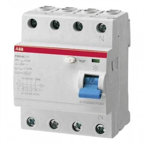 Выключатель дифференциального тока УЗО F204AC-25/0,03