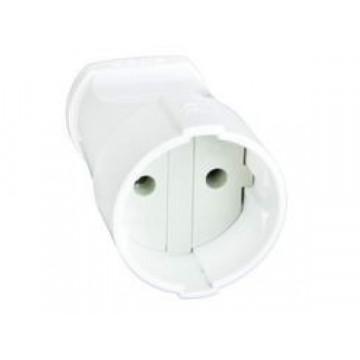 Штепсельное гнездо б\з белое 10А 250В UNIVersal