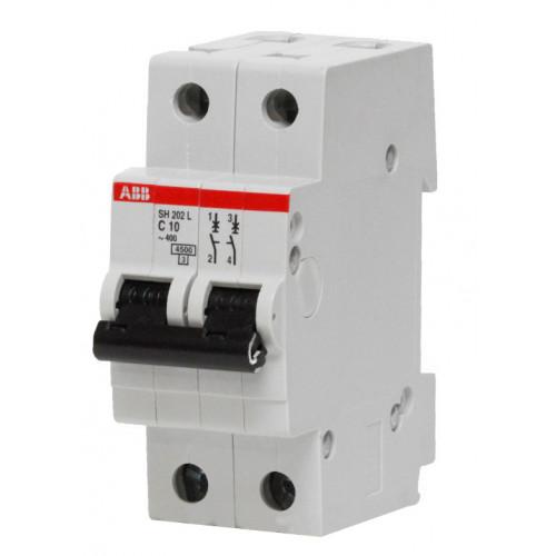 Выключатель автоматический двухполюсный SH202L C10 ABB