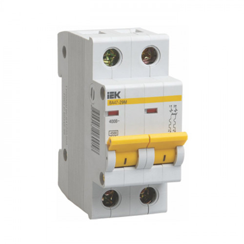 Выключатель автоматический двухполюсный IEK 2-P 10A