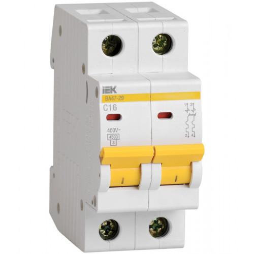 Выключатель автоматический двухполюсный IEK 2-P 16A