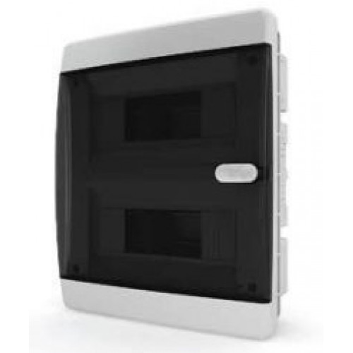 Щит встраиваемый IP40 18 модулей проз/черный CVK TekFor