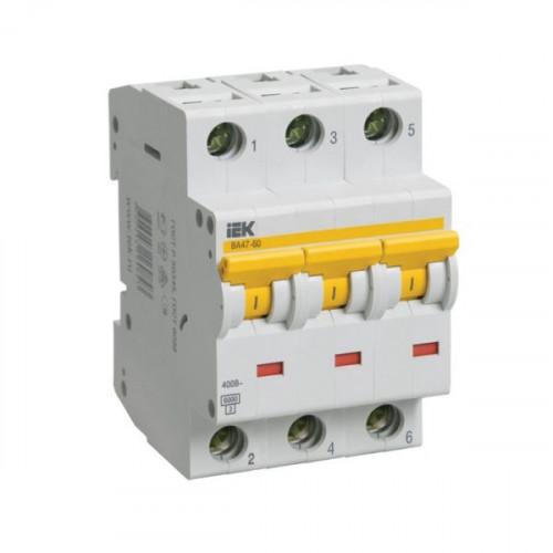 Выключатель автоматический трехполюсный IEK 3-P 40A