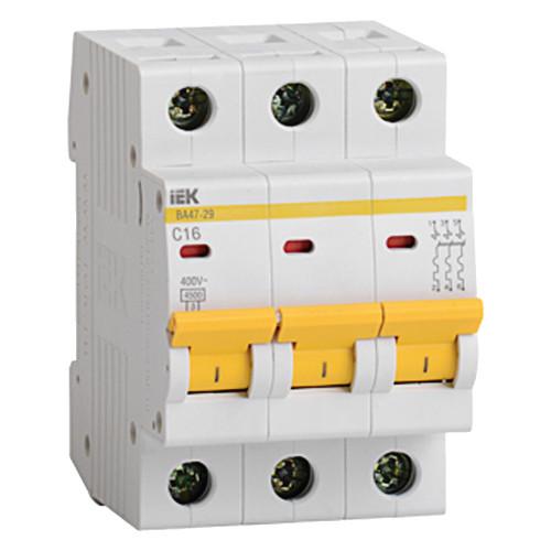 Выключатель автоматический трехполюсный IEK 3-P 16A
