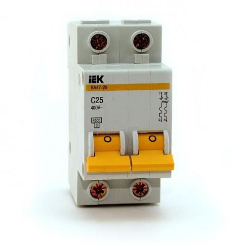 Выключатель автоматический двухполюсный IEK 2-P 25A