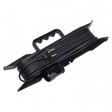 Удлинитель-шнур на рамке черный 25м