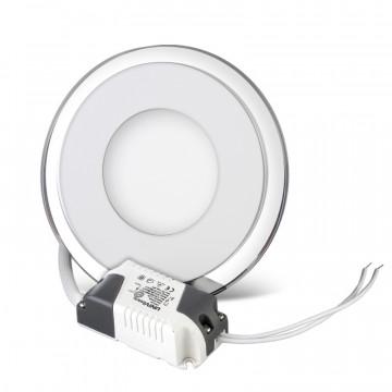 Встраиваемый светодиодный светильник с подсветкой 12w круглый