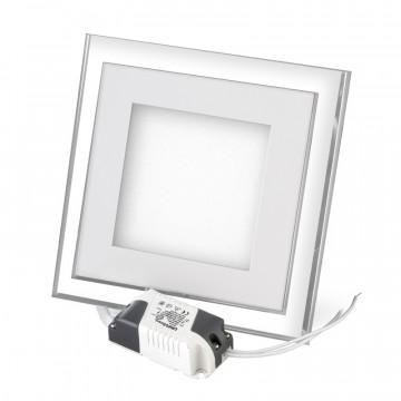 Встраиваемый светодиодный светильник с подсветкой 12w квадратный