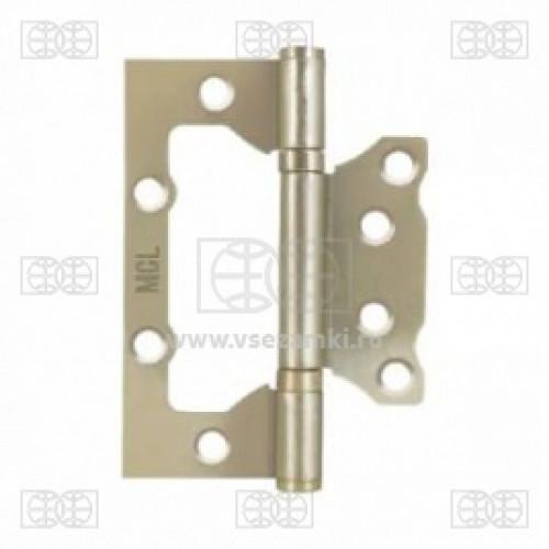 MCL 4*3*2 мм SGP КОРОБКА 2мм мат.золото Петля накладная без врезки 2 шт (50)