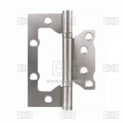 MCL 4*3*2 мм SN КОРОБКА 2мм мат.никель Петля накладная без врезки 2 шт (50)