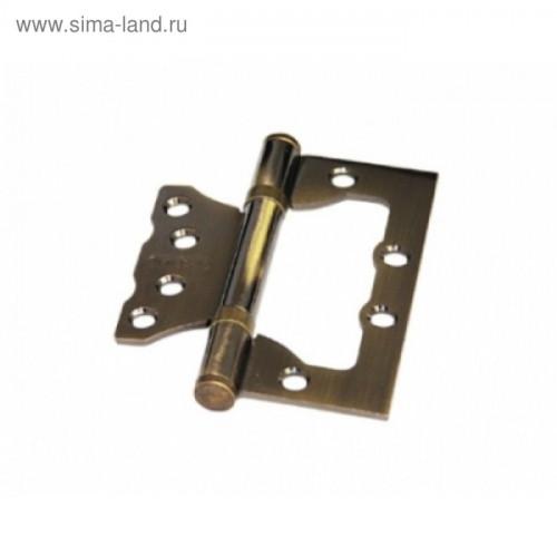 СТАНДАРТ 100x75х2 мм 2BB AB КОРОБКА 2мм бронза Петля накладная без врезки 2 шт (50)