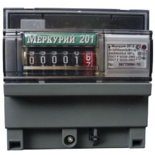 Электросчетчик Меркурий 201.6 ЖКИ 10(80)А