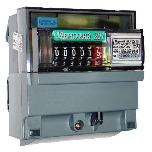 Электросчетчик Меркурий 201.5 ЖКИ 5(60)А