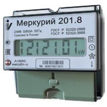 Электросчетчик Меркурий 201.8 ЖКИ 5(80)А