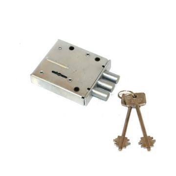 Замок накладной БЛОК-2М (никелированный ключ)