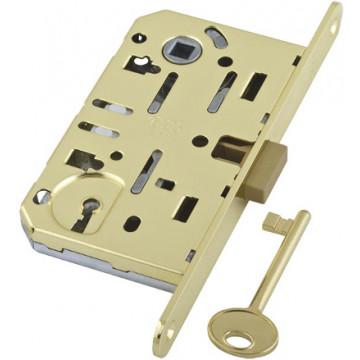 B01101.50.03.579 Замок межкомнатный под ключ (латунь) MEDIANA EV. (инд.упак+B01000.40.03)