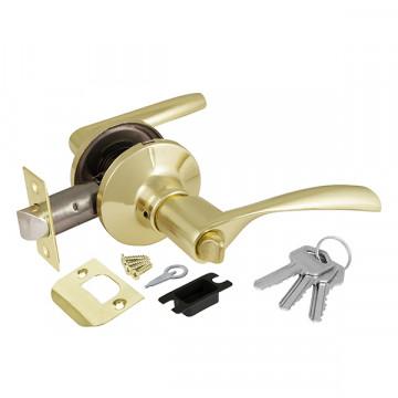 Ручка защелка 6010 PB-E (кл./фик.) золото