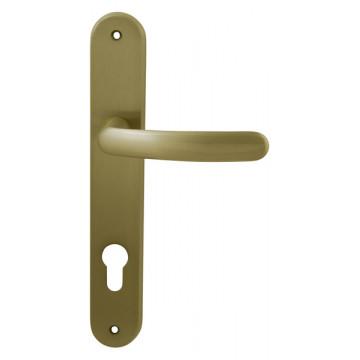 Ручка дверная на планке Elba матовое золото