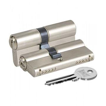 Цилиндровый механизм 164 GN/80 (30+10+40) mm упк.БЛИСТЕР никель 5 кл.