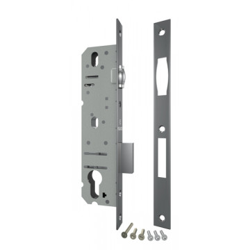 Корпус узкопрофильного замка с роликовой защёлкой 5124-25 CP (хром)