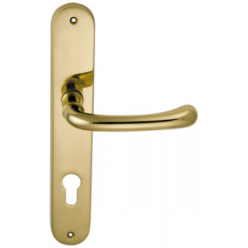 Ручка дверная на планке Beta латунь