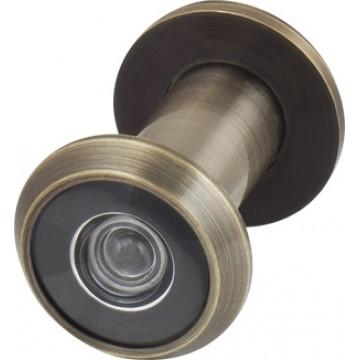 Глазок дверной, пластиковая оптика DV1, 16/35х60 AB Бронза