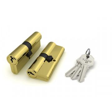 Цилиндровый механизм 100 CA 75 mm (30+10+35) PB латунь 3 кл.