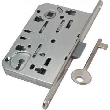 B01101.50.06.579 Замок межкомнатный под ключ (никель) MEDIANA EV. (инд.упак+B01000.40.06)
