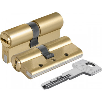 Цилиндровый механизм 164 DBN-E/80 (35+10+35) mm латунь 5 кл.