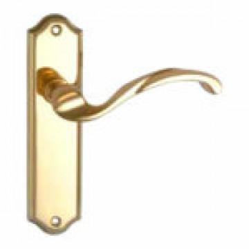 Дверные ручки MSM 160 M PB на планке без вертушки PB полированная латунь под 47 механизм